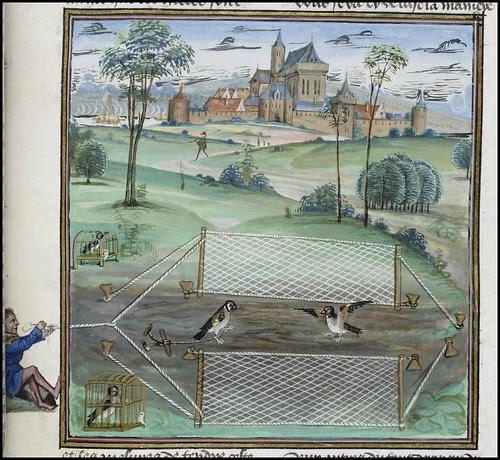 15th century illuminated manuscript miniature: Henri de Ferrières, Les Livres du roy Modus et de la royne Ratio 196