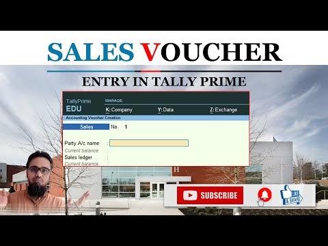 Sales Voucher Entry in Tally Prime | टेली प्राइम में सेल्स वाउचर एंट्री कैसे करें