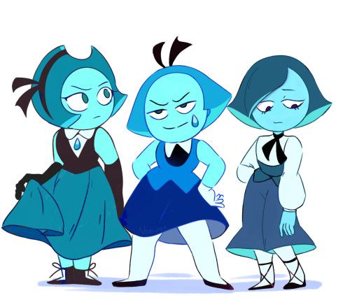 Anonymous said: what if there was a squad of aquamarines? Answer: Time to find some MyDads
