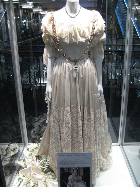 Queen Victoria's wedding dress used in filming Young Queen
