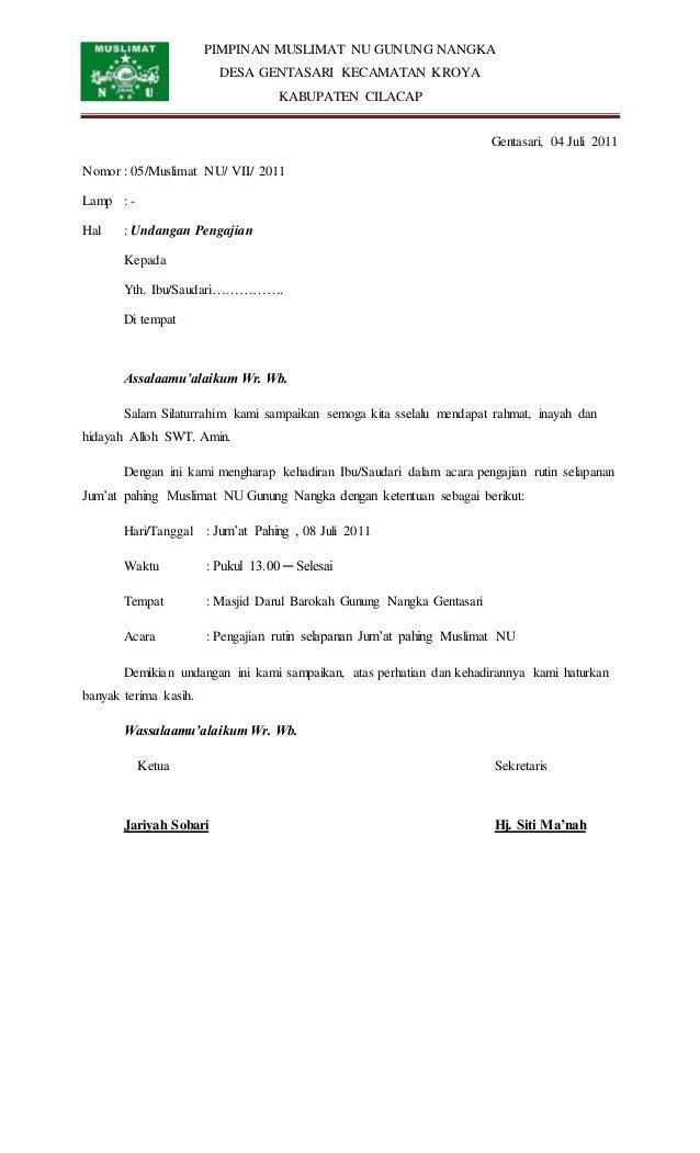 59337513 undangan pengajian rutin muslimat nu
