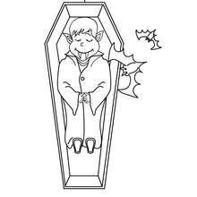 Dibujos Para Colorear Vampiro En Un Ataud Eshellokidscom