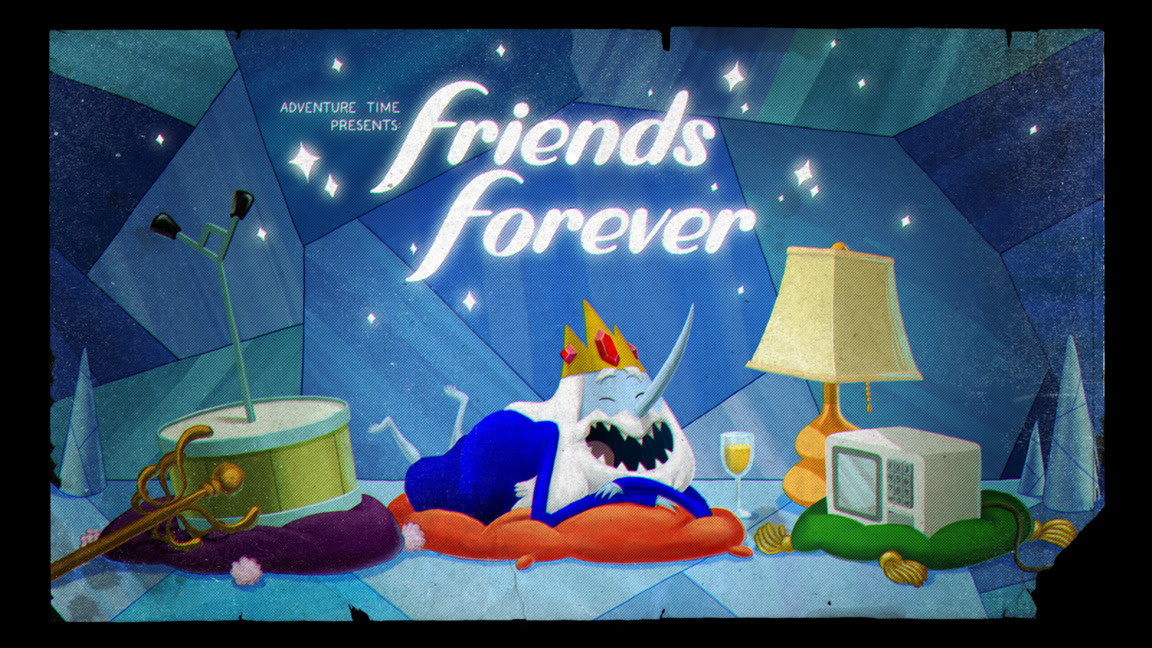 """Friends Forever"" title card designed by Joy Ang and painted by Nick Jennings. Premieres Thursday, April 16th on Cartoon Network."