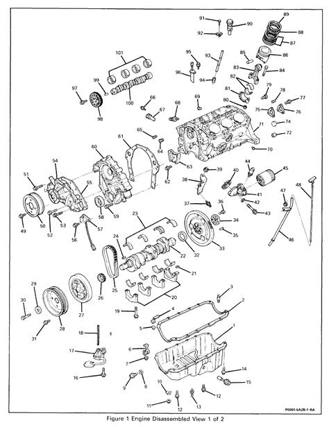 3.4l Engine Numbered Breakdown Diagram - V6 F-Body.com