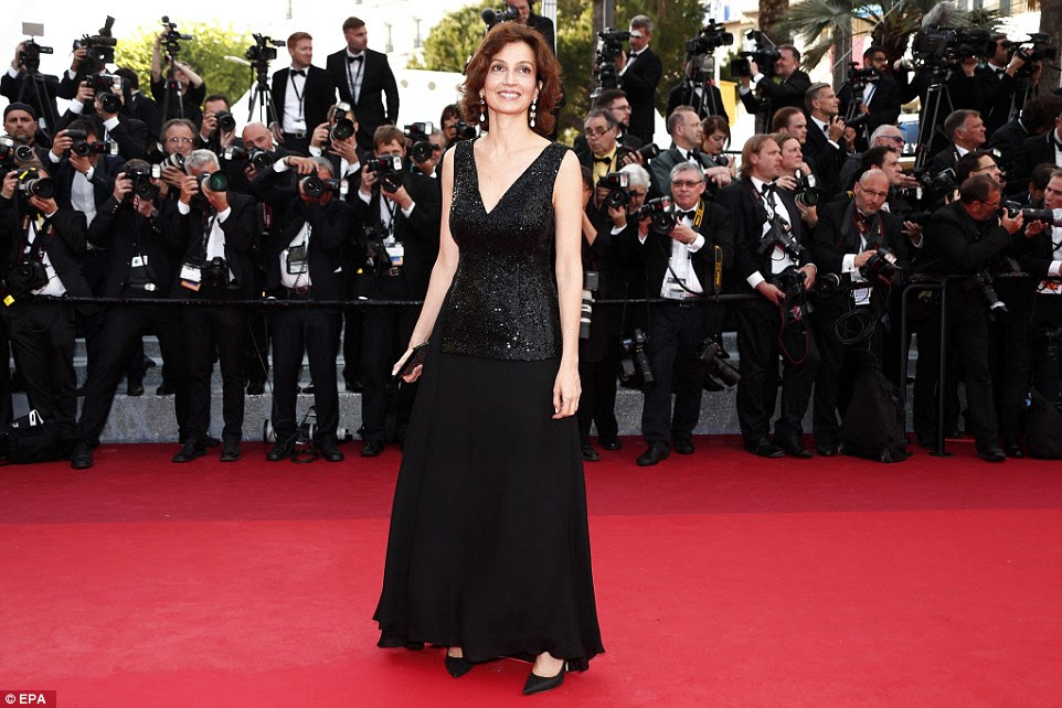 Sophisticated:French Culture Minister Audrey Azoulay was typically stylish in a black gown