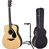 Yamaha FG700S Solid Top Acoustic Guitar w/HCAG1 Hardshell Case and On-stage Guitar Stand