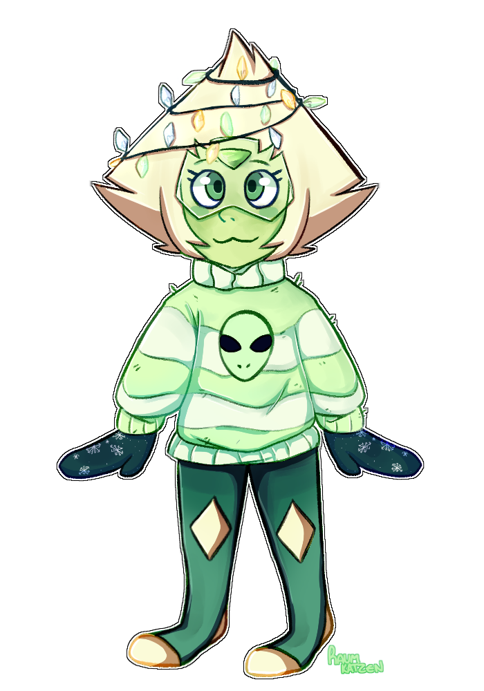 sorry for lack of posts i was originally gonna post in bulk with some warriors too but this month has been really busy because of school in the mean time have this peridot i drew from my sketchbook...