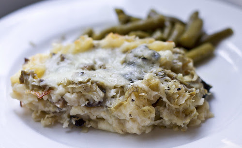 artichoke mushroom lasagna
