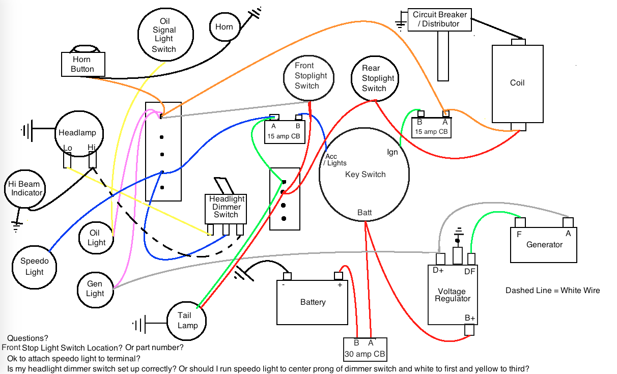 Ironhead Questions about a simplified wiring diagram