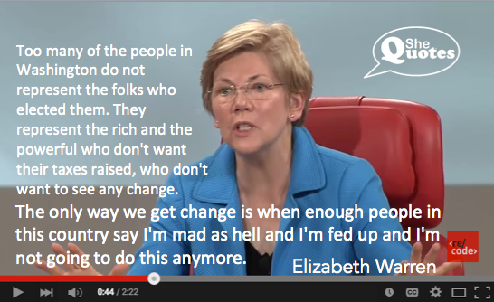 Shequotes Elizabeth Warren Is Fed Up And Fired Up Shequotes