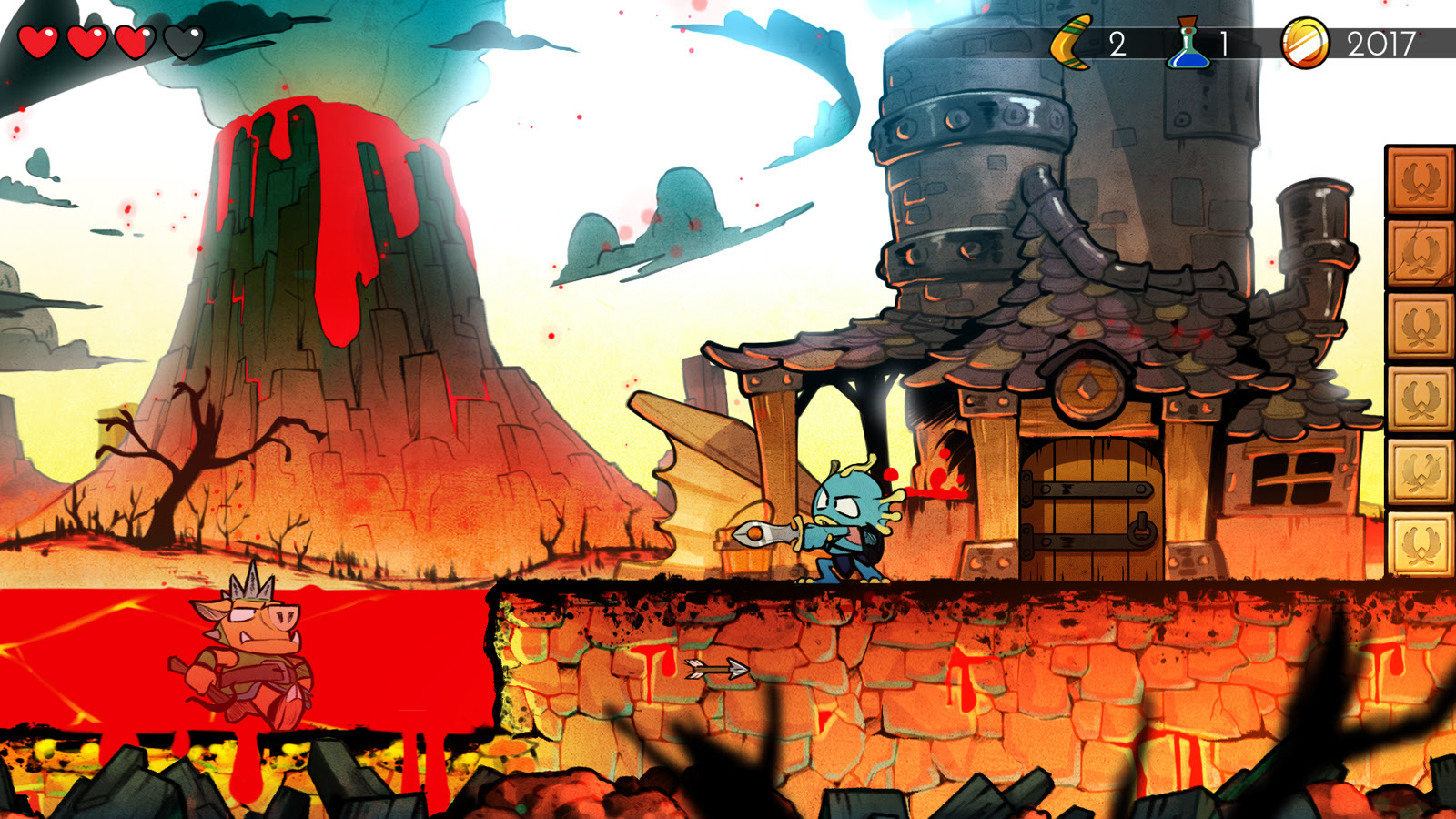 Wonder Boy: The Dragon's Trap is getting a physical PS4 release screenshot