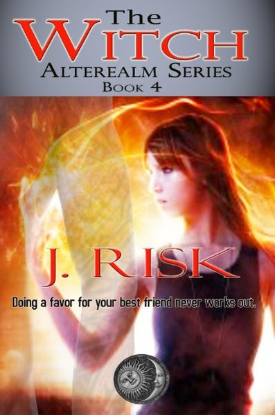Book Cover for The Witch from the paranormal fantasy series, The Alterealm, by J Risk.