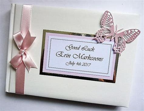 Personalised Wedding Guest Book with butterfly   ANY