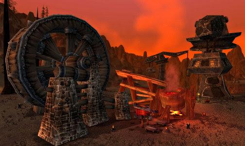 Dark Iron smelting operations on Pyrox Flats