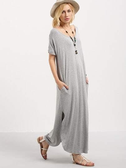 http://www.shein.com/Grey-Short-Sleeve-Pocket-Split-Side-Dress-p-287157-cat-1727.html?aff_id=1285