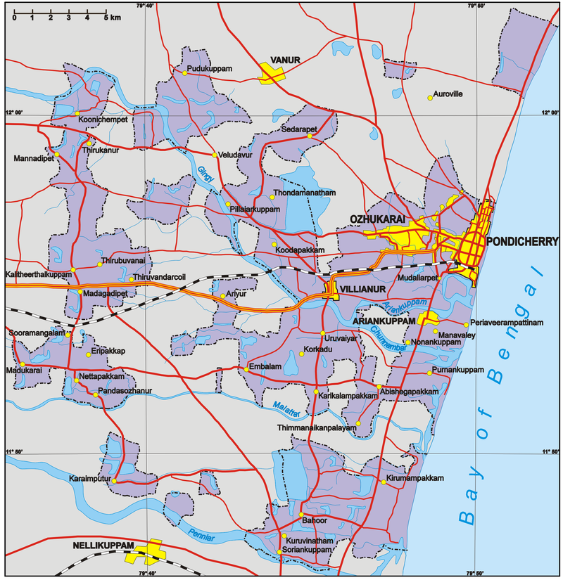 Podicherry map