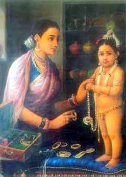 Yashoda Adorning Krishna