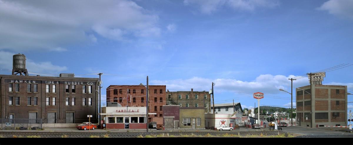 Layout rail access model railroad backdrop buildings - Model railroad backdrops ...