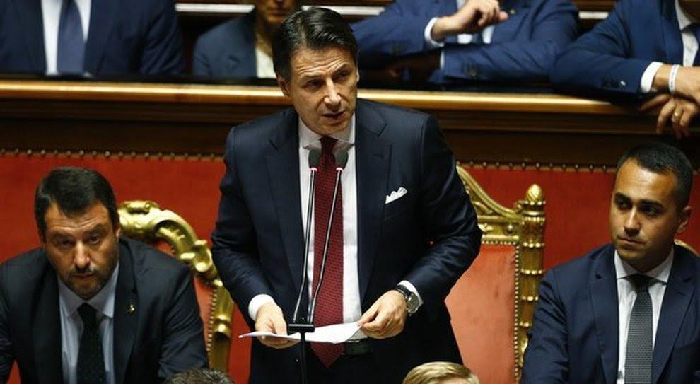 Risultati immagini per parlamento conte discorso