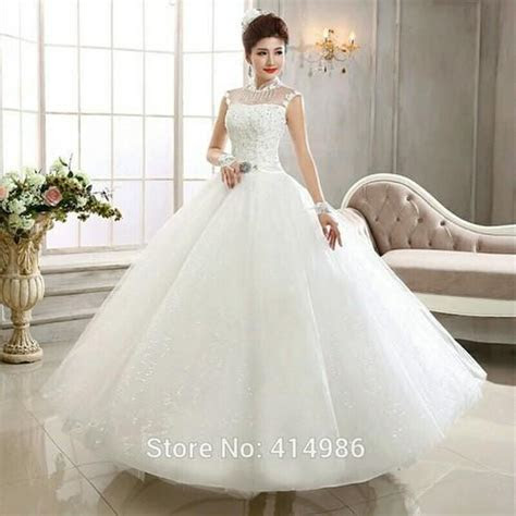 White Ivory Christian High Neck White Wedding Gown, Rs