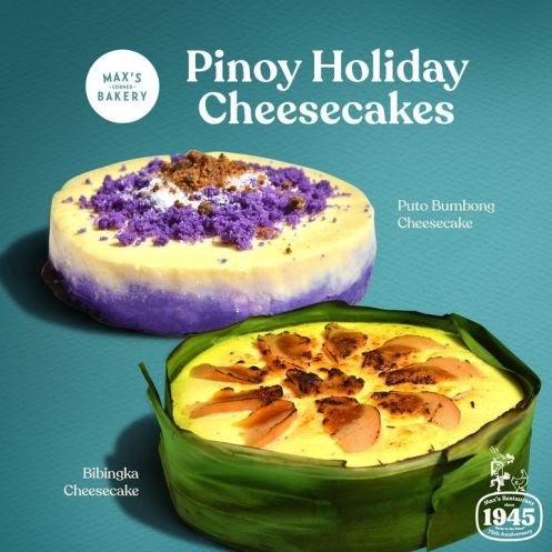 New Max's Bibingka Cheesecake and Puto Bumbong Cheesecake