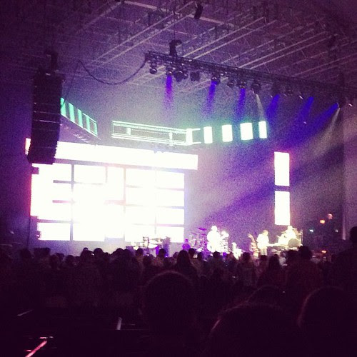 You can't tell at all but that's Barenaked Ladies.