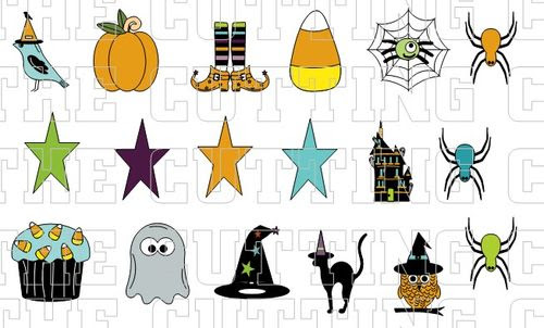 HALLOWEEN MINI COLORED SET 1