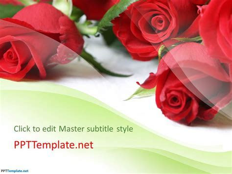 Free Rose Flowers PPT Template
