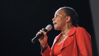 Christiane Taubira, à Paris le 2 octobre 2011