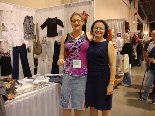 me and Jennifer Stern, my online serger teacher