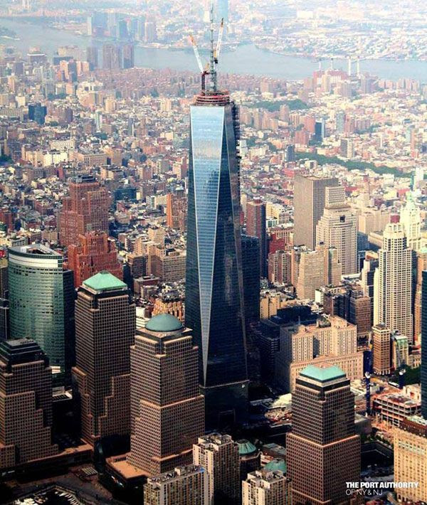 The 1 World Trade Center as seen on June 6, 2013.