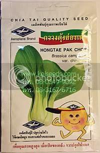 เมล็ดพันธุ์ผักกาดกวางตุ้งฮ่องเต้ ตราเรือบิน