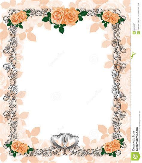 Roses Template Wedding Invitation Peach Stock Illustration