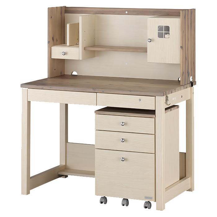 組立設置無料 木製 ローチェスト ハローキティ 学習机 たんす