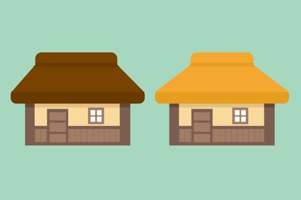 藁ぶき屋根の家 街建物系イラスト専門サイトtown Illust