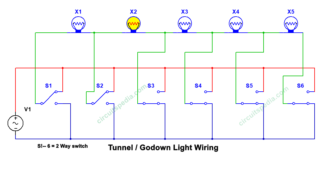 Godown Wiring Tunnel Wiring Light Switch Wiring 2 Way Switch Wiring