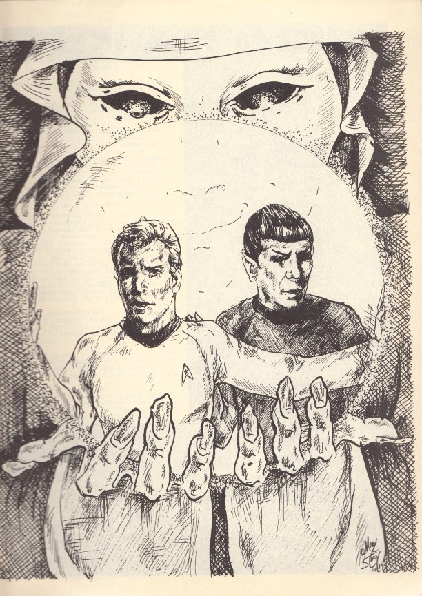 Kirk and Spock illustration by Mary Stacy-MacDonald