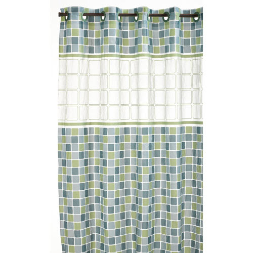 Hookless Shower Curtain - Mosaic Jade in Shower Curtains & Rings