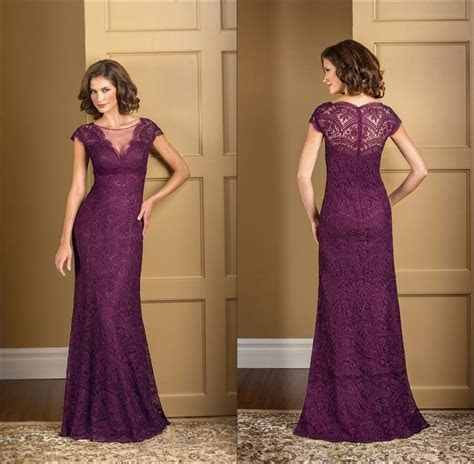 Cheap Plus Size Plum Lace Mermaid Mother Of The Bride