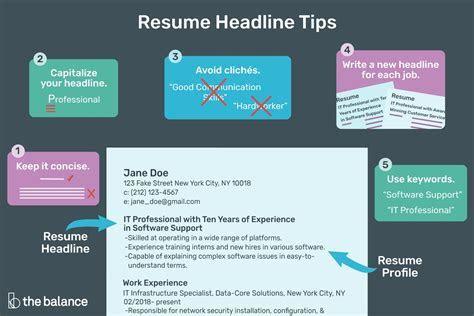 Best Resume Headline For Freshers   ephesustour.cc