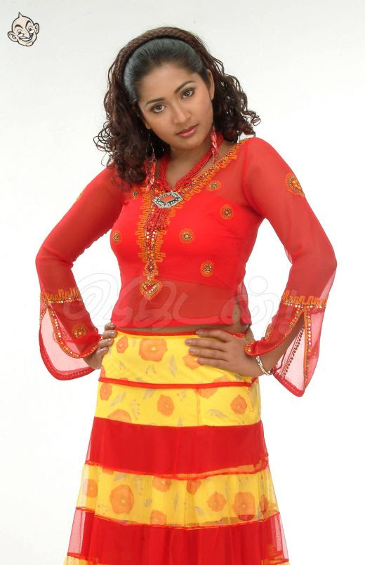 navya nair in red poster