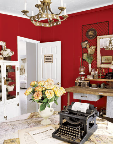 Red Room traditional home office