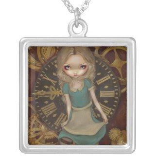 Alice in Clockwork NECKLACE steampunk wonderland necklace