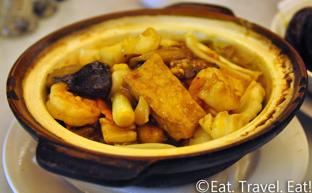 Far East Cafe- Chinatown, San Francisco, CA: Mixed Seafood Tofu Hot Pot