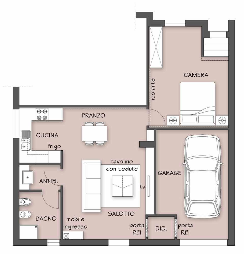 Progetto Casa Con Garage - Kinderzimmer Ideen