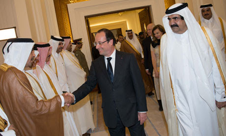 Francois Hollande in Qatar