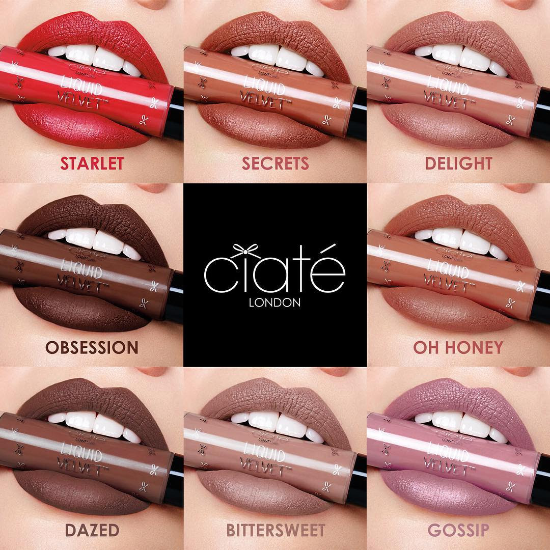 Ciaté London Liquid Velvet Swatches