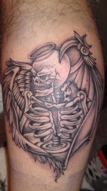 Tattoo motive engel und teufel