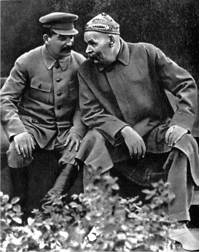 Stalin con Gorki.