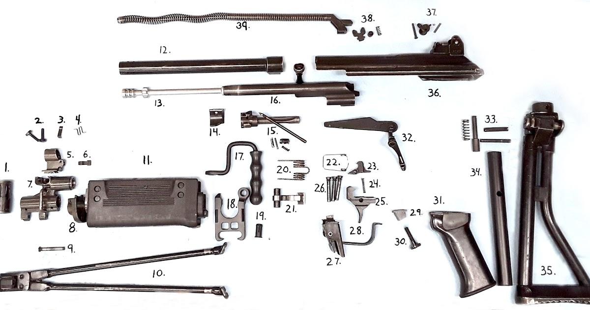 35 Parts Of A Handgun Diagram